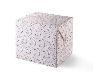 Ordnungskiste mit variabel faltbarem Deckel, hoch, rosa mit Terrazzoprint