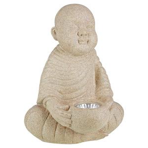 "LED-Solarleuchte ""Buddha"" Polyresin 22 x 28 x 21 cm"