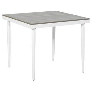 "Gartentisch ""Moni"" Polywood grau/weiß 90 x 90 x 76 cm"