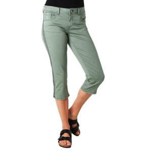 "TOM TAILOR             Jeans ""Alexa"", Capri-Länge, Slim Leg, Galonstreifen"