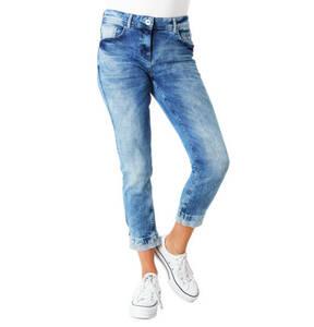 """CECIL             Jeans """"Charlize"""", 7/8, Crash-Effekt, Streifen-Details"""