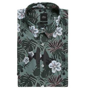 s.Oliver             Businesshemd, Slim Fit, Tropical-Print