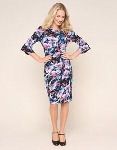 Bexleys woman - Jerseykleid mit Volantärmeln und gelegten Falten