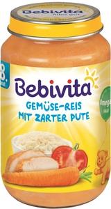 Bebivita Gemüse-Reis mit zarter Pute ab 8. Monat 220 g