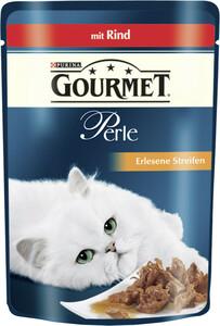 Purina Gourmet Perle Erlesene Streifen mit Rind Nassfutter für Katzen 85 g