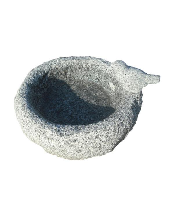 Dehner Granit-Vogeltränke, Ø 23,5 x 15 cm