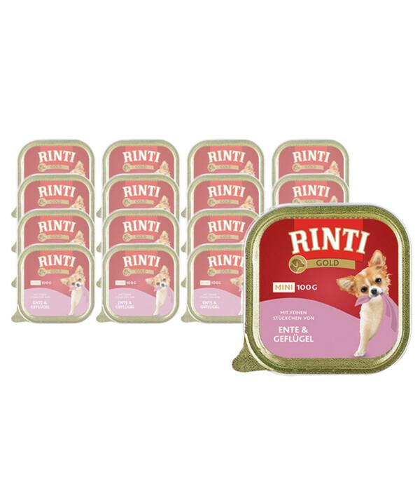 Rinti Gold Mini, Nassfutter, 16 x 100g