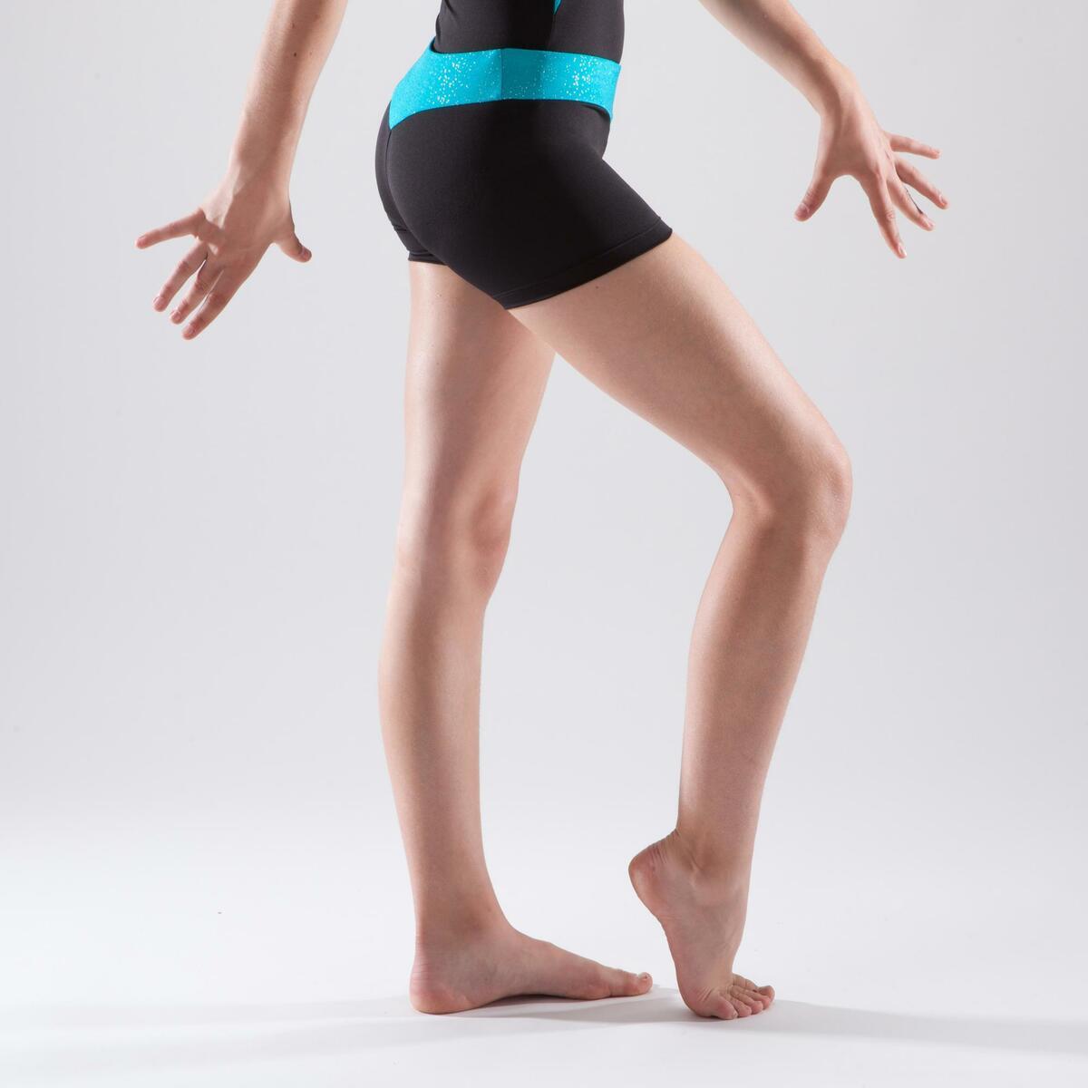 Bild 3 von Gymnastikhose kurz Bund Pailletten türkis
