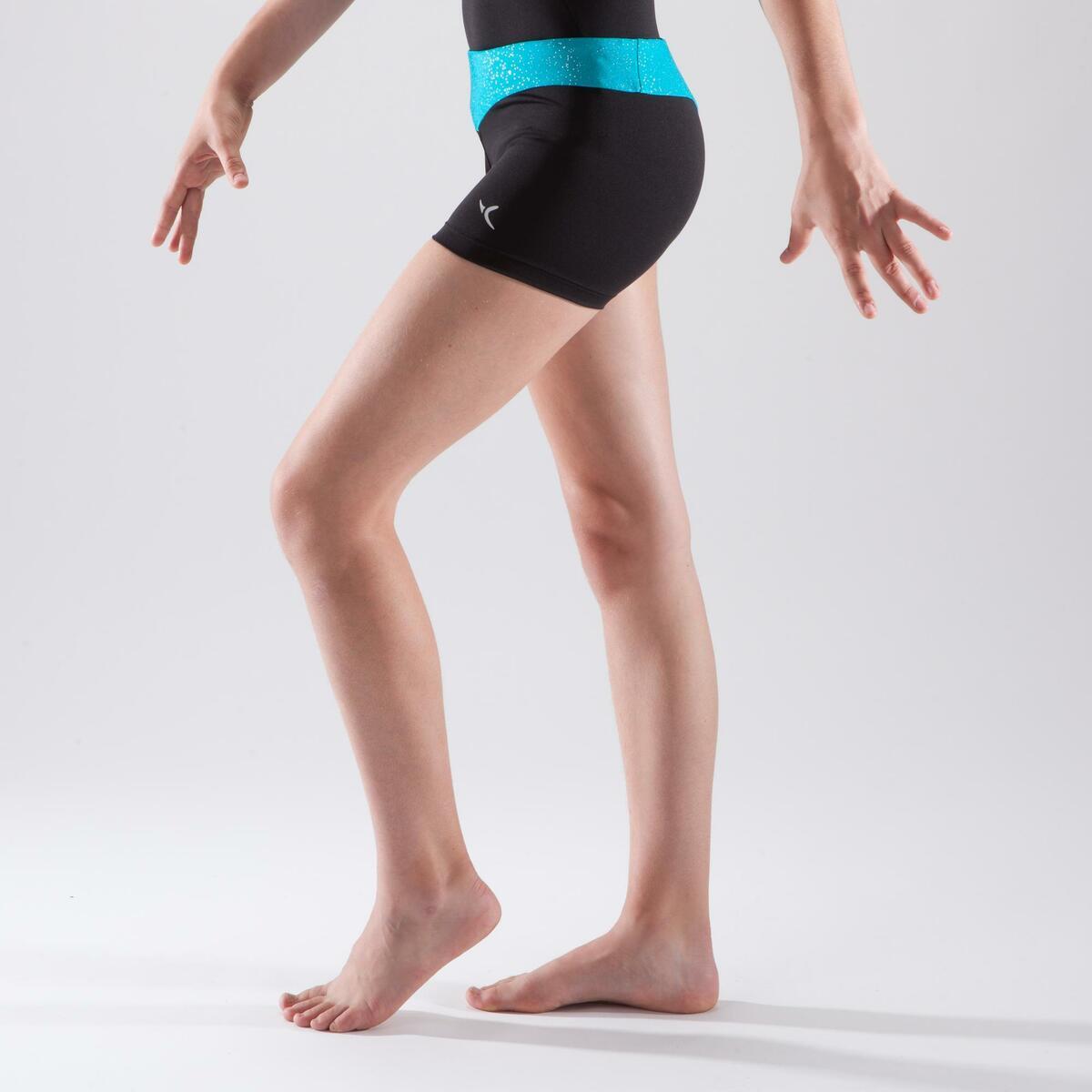 Bild 5 von Gymnastikhose kurz Bund Pailletten türkis