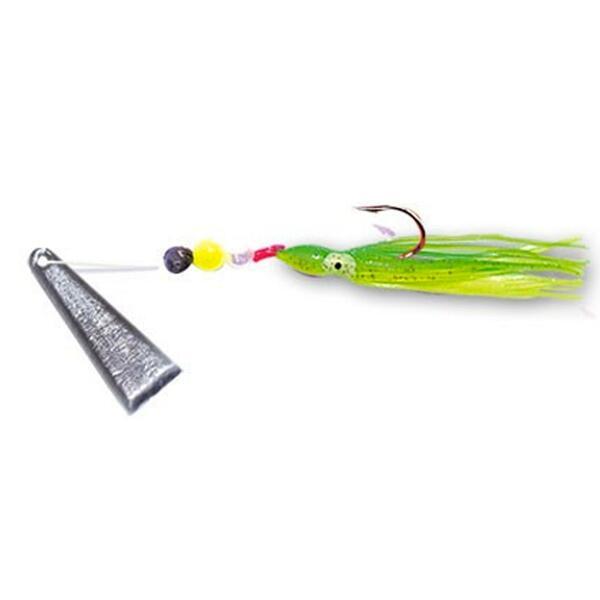 Angelblei Blatt grün 7 g zum Angeln auf Raubfische
