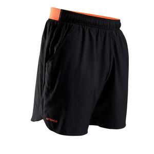 Tennis-Shorts Dry 500 Herren schwarz/orange