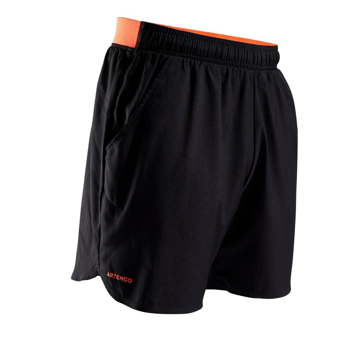 Bild 1 von Tennis-Shorts Dry 500 Herren schwarz/orange