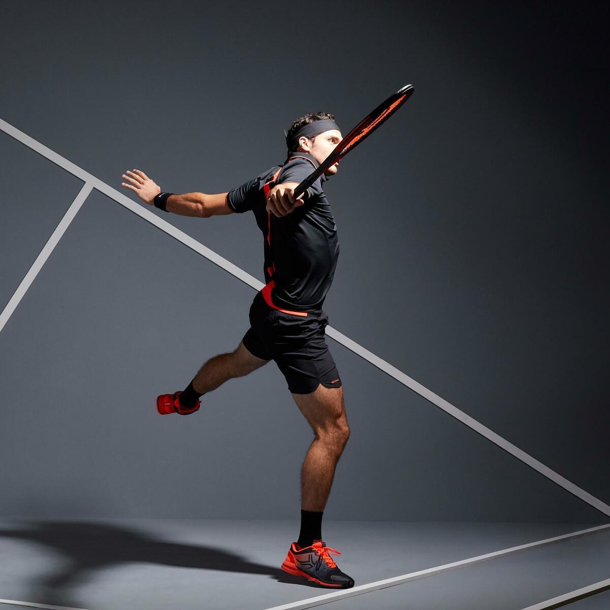 Bild 2 von Tennis-Shorts Dry 500 Herren schwarz/orange