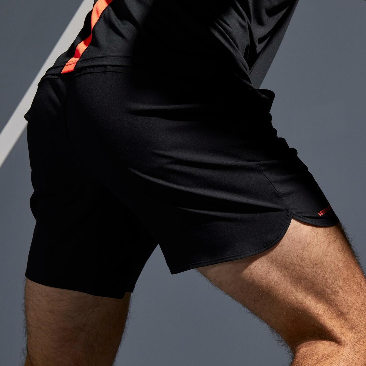 Bild 5 von Tennis-Shorts Dry 500 Herren schwarz/orange