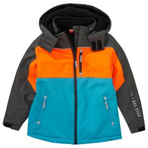 Jungen Schneejacke im Colourblock-Style