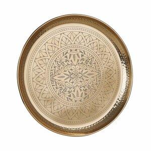 Deko Tablett glänzend Ø 45 cm gold