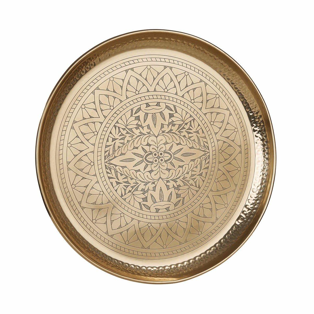 Bild 1 von Deko Tablett glänzend Ø 45 cm gold