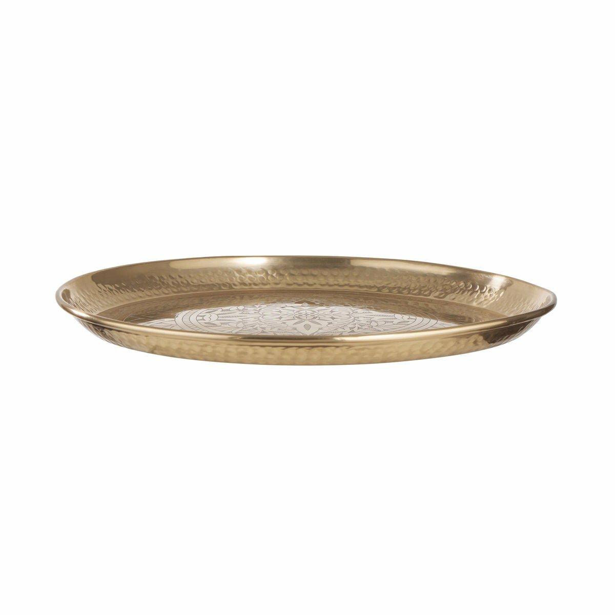 Bild 2 von Deko Tablett glänzend Ø 45 cm gold