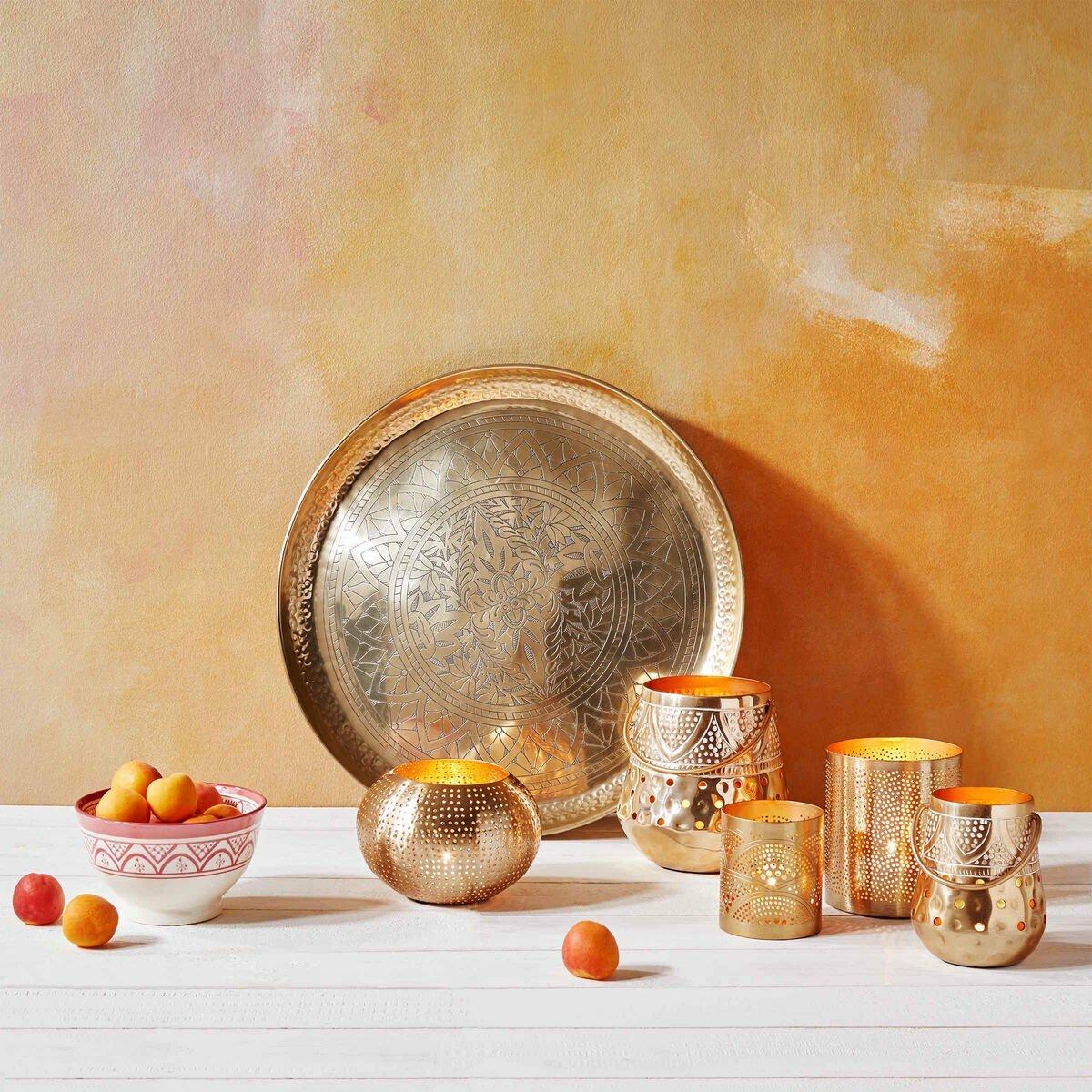 Bild 3 von Deko Tablett glänzend Ø 45 cm gold
