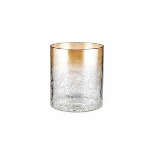 Windlicht Zylinder Höhe 8 cm gold