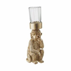Deko Affe mit Teelicht