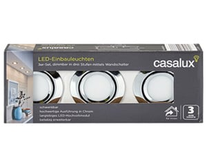 casalux LED-Einbauleuchten, 3er-Set