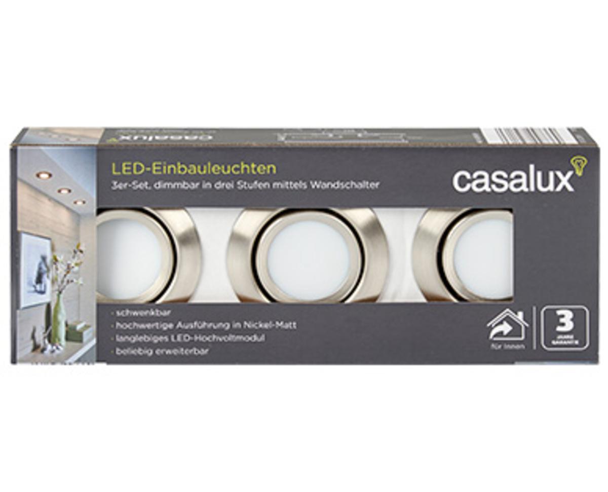 Bild 2 von casalux LED-Einbauleuchten, 3er-Set