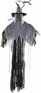 Hängedeko - Hexe - aus Kunststoff - 150 cm