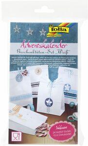Adventskalender Geschenktüten-Set - Weiß