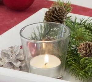 Teelichtglas - 6,5 x 4,5 x 6,5 cm
