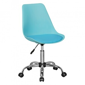 AMSTYLE KORSIKA | Drehstuhl Kunstleder Blau | Drehsessel Wartezimmerstuhl | Schreibtischstuhl Rücken