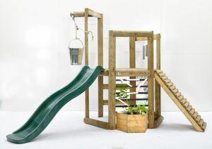 Plum - Discovery Holz-Spielhaus mit vielen Spielmöglichkeiten - ca. 383 x 258 x 183 cm