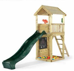 Plum - Holz-Aussichtsturm mit Rutsche, Tafel und Zubehör - ca. 3,6 m