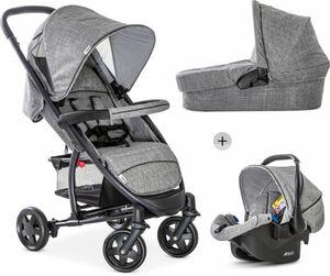 Hauck - Malibu 4 Trioset - Kinderwagenset - Melange Grey