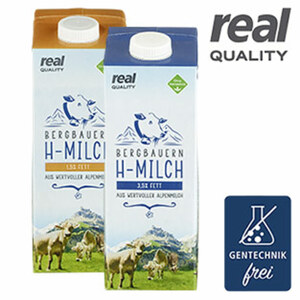Bergbauern H-Milch 1,5/3,5 % Fett jede 1-L-Packung