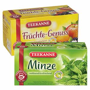 Teekanne Minze oder Hagebutte jede 20er = 45/70-g-Aufgussbeutelpackung und weitere Sorten