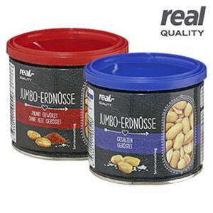 Jumbo Erdnüsse versch. Sorten, jede 190/200-g-Dose