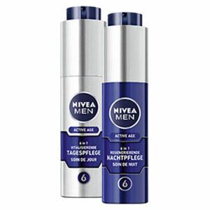 Nivea Men Active Age 6 in 1 vitalisierende Tagespflege oder regenerierende Nachtpflege jede 50-ml-Packung