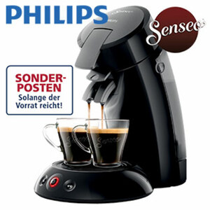 Kaffee-Padautomat HD 6553/67 Original · Crema Plus System · Kaffee Boost Technologie · für 1 - 2 Tassen/Becher · abnehmbarer 0,7 Liter Wassertank