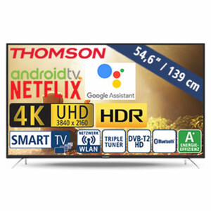 "54,6""-Ultra-HD-LED-TV 55UD6406 • HbbTV • 3 HDMI-/2 USB-Anschlüsse, CI+ • Stand-by: 0,29 Watt, Betrieb: 85 Watt • Maße: H 73 x B 124,2 x T 7,8 cm • Energie-Effizienz A+ (Spektrum A++ bis E"