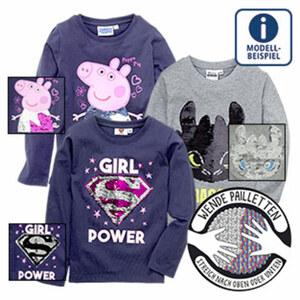 Kinder- Lizenz-Shirt mit Wendepailletten, Größe: 92 - 164, je