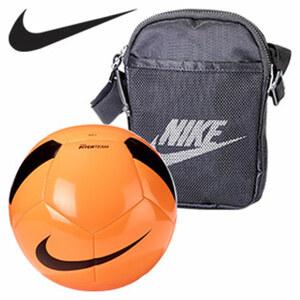 Umhängetasche oder Fußball je