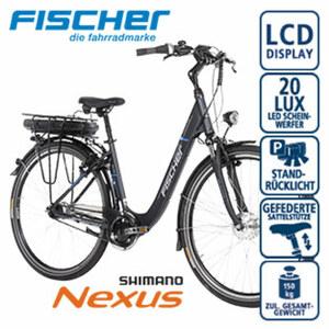 Alu-Elektro-Citybike Proline ECU 1401 28er - Fahrunterstützung bis ca. 25 km/h - Li-Ionen-Akku mit hochwertigen Markenzellen 36 V/14,5 Ah, 522 Wh - Reichweite: bis ca. 140 km (je nach Fahrweise) - w