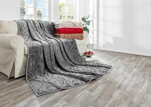 Bella Casa XXL Kaschmir Touch Decke, ca. 180 x 220 cm, Frostgrau