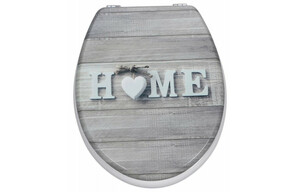MDF-WC-Sitz Motiv Home