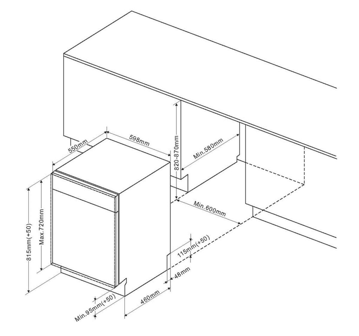 Bild 2 von Amica Einbau-Geschirrspüler, vollintegriert, 60cm