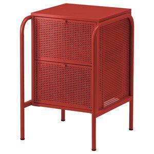 NIKKEBY                                Kommode mit 2 Schubladen, rot, 46x70 cm
