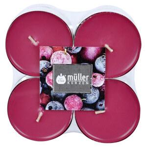 Müller Kerzen Duft-Teelichte Wildbeere Maxi 8 Stück