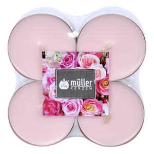 Müller Kerzen Duft-Teelichte Englische Rose Maxi 8 Stück