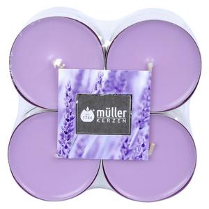 Müller Kerzen Duft-Teelichte Lavendel Maxi 8 Stück